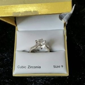 Charter Club Size 9 cubic zirconia solitairre ring